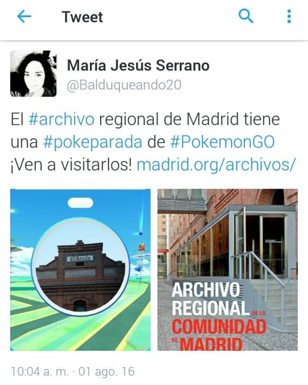 Pokeparada en el Archivo Regional de la Comunidad de Madrid